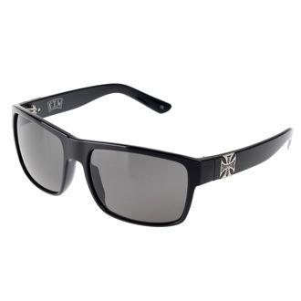 West Coast Choppers szemüveg - SHINY BLACK SMOKED, West Coast Choppers