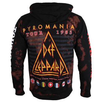 kapucnis pulóver férfi Def Leppard - PYROMANIA - BAILEY, BAILEY, Def Leppard
