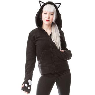 kapucnis pulóver női - DARK KITTY - CUPCAKE CULT, CUPCAKE CULT