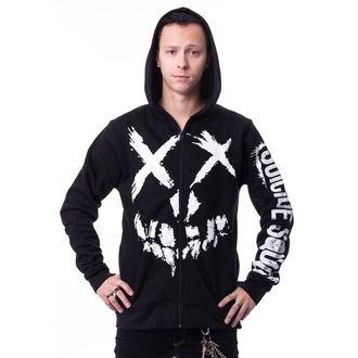 kapucnis pulóver férfi Suicide Squad - GRIN Black -