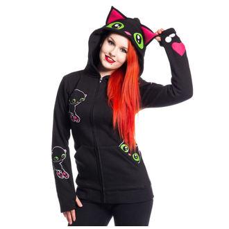 kapucnis pulóver női - BLACK CAT - CUPCAKE CULT, CUPCAKE CULT