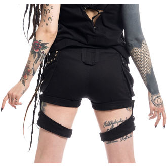 POIZEN INDUSTRIES női rövidnadrág - ASAMI - FEKETE, POIZEN INDUSTRIES