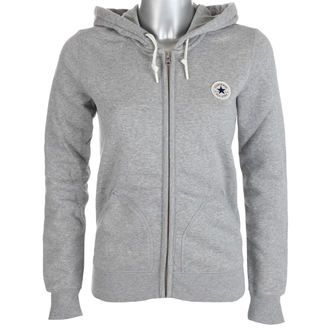 kapucnis pulóver női - VINTAGE GREY - CONVERSE, CONVERSE