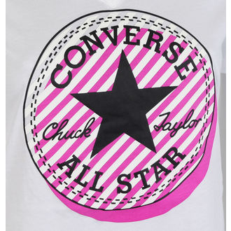 utcai póló női - Off Center Stripe - CONVERSE, CONVERSE