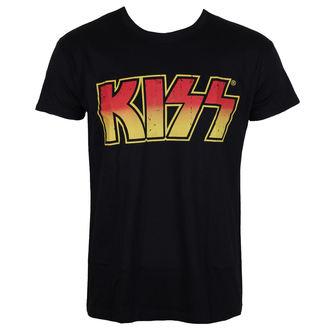 metál póló férfi Kiss - Distressed Logotype - HYBRIS, HYBRIS, Kiss