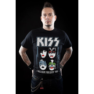 metál póló férfi Kiss - I Was Made For Lovin' You - HYBRIS, HYBRIS, Kiss