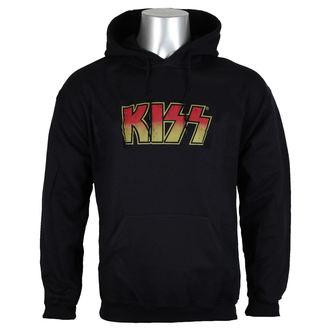 kapucnis pulóver férfi Kiss - Distressed Logotype Big & Tall - HYBRIS, HYBRIS, Kiss