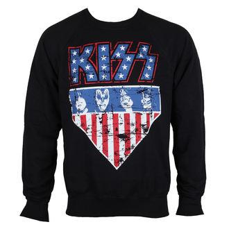 pulóver (kapucni nélkül) férfi Kiss - Stars & Stripes - HYBRIS, HYBRIS, Kiss