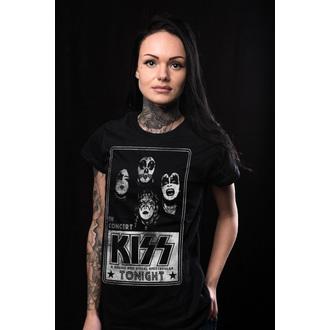 metál póló női Kiss - In Concert Distressed Poster - HYBRIS, HYBRIS, Kiss