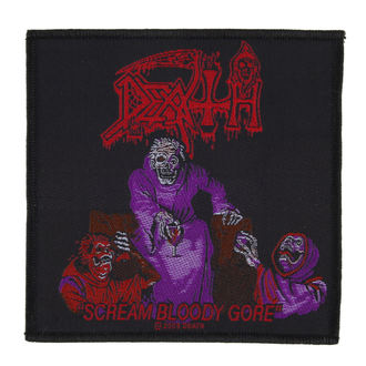 DEATH felvarró - SCREAM BLOODY GORE - RAZAMATAZ, RAZAMATAZ, Death