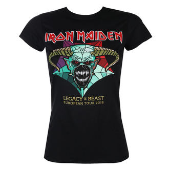 metál póló női Iron Maiden - Legacy of the Beast European Tour 2018 - ROCK OFF, ROCK OFF, Iron Maiden