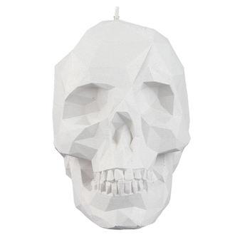 Skull gyertya - White