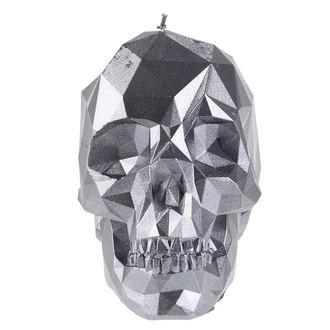 Skull gyertya - Steel