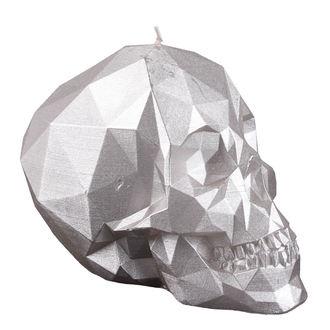 Skull gyertya - Silver