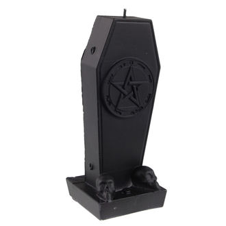 Coffin with Pentagram gyertya - Black Matt, NNM