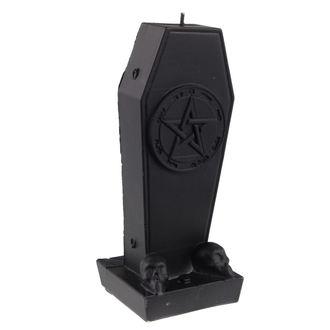 Coffin with Pentagram gyertya - Black Matt