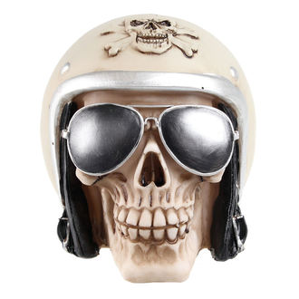 Skull with motorcycle helmet & sunglasses koponya (doboz) - 78/5735