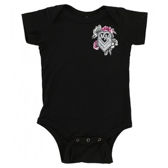 METAL MULISHA gyerek body - BABY GIRL ONESIE - BLK, METAL MULISHA