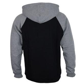 kapucnis pulóver férfi - 88 TC Raglan Black/ Dark Heather - INDEPENDENT, INDEPENDENT