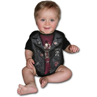 SPIRAL gyermek body - BABY BIKER - Fekete, SPIRAL