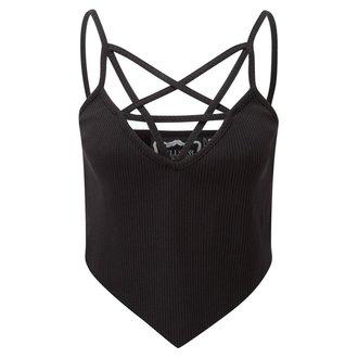 KILLSTAR női felső - Sally Sceptre - Fekete - K-TOP-F-2402 Leaf 1 Prozkoumat&&string0&& Ribbed Vest Black