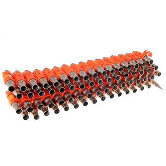 Ezüst & Fluoreszkáló Narancssárga Színű öv - Orange Metal Bullet