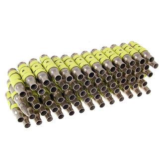 Ezüst & Fluoreszkáló Sárga Színű Töltény öv - Yellow Metal Bullet