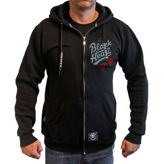 kapucnis pulóver férfi - REBECCA - BLACK HEART, BLACK HEART
