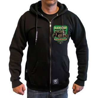kapucnis pulóver férfi - UNITED - BLACK HEART, BLACK HEART