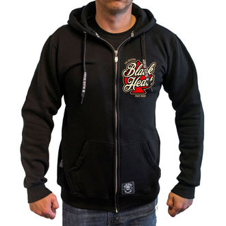 kapucnis pulóver férfi - HOT ROD ANGEL - BLACK HEART, BLACK HEART