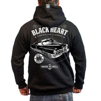 kapucnis pulóver férfi - CADILLAC - BLACK HEART - 003-0034-BLK