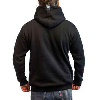 kapucnis pulóver férfi - FLAME CHOPPER - BLACK HEART, BLACK HEART
