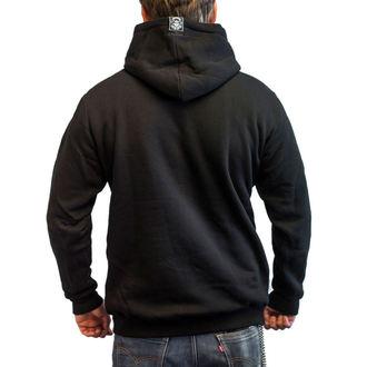 kapucnis pulóver férfi - BASTARD SKULL - BLACK HEART, BLACK HEART