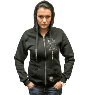 kapucnis pulóver női - KUSTOM KULTURE ZIP - BLACK HEART, BLACK HEART
