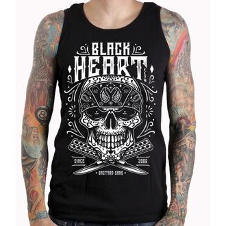 BLACK HEART férfi felső - BANDANA SKULL - FEKETE, BLACK HEART