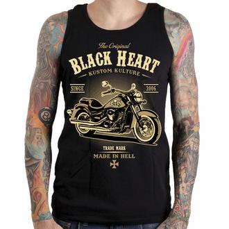 BLACK HEART férfi felső - HARLEY - FEKETE, BLACK HEART