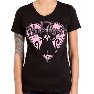 utcai póló női - PUSSY CATS - BLACK HEART, BLACK HEART