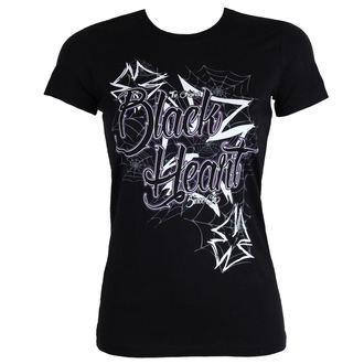 utcai póló női - CROSS - BLACK HEART, BLACK HEART