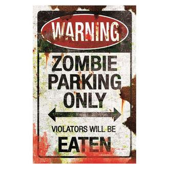 Zombie Parking dekoráció (tábla)