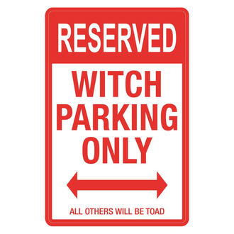 Witch Parking dekoráció (tábla)