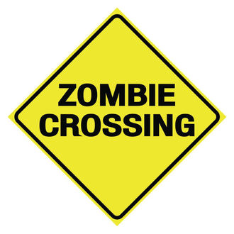 Zombie Crossing tábla