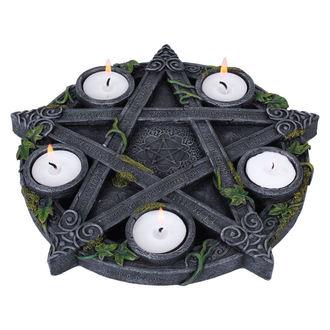 Wicca Pentagram Tea gyertyatartó (dekoráció)