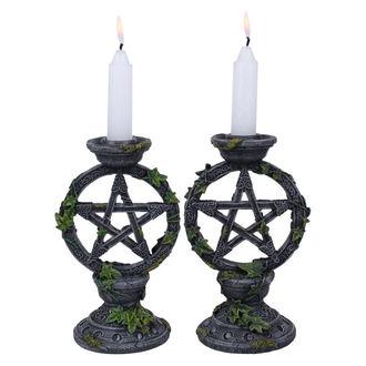 Wicca Pentagram gyertyatartó (készlet)