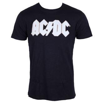 metál póló férfi AC-DC - Logo & Angus Applique Slub - ROCK OFF, ROCK OFF, AC-DC