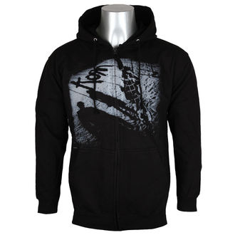 kapucnis pulóver férfi Korn - Black -, Korn
