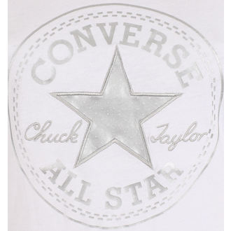 utcai póló női - Metallic Chuck Patch Vneck - CONVERSE, CONVERSE