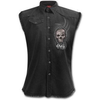 SPIRAL férfi ujjatlan ing - BOSS REAPER - Fekete, SPIRAL