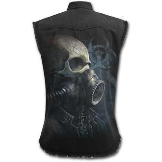 SPIRAL ujjatlan férfi ing  - BIO-SKULL - Fekete, SPIRAL