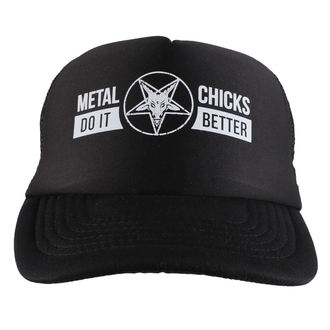 METAL CHICKS DO IT BETTER sapka - Baphomet - logo - Fekete, METAL CHICKS DO IT BETTER