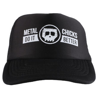 METAL CHICKS DO IT BETTER sapka - Skull - logo - Fekete, METAL CHICKS DO IT BETTER